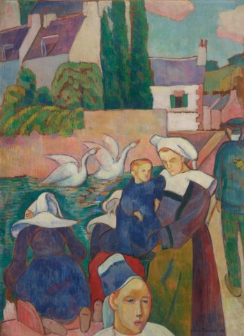 Bridge at Pont-Aven | Emile Bernard | Oil Painting