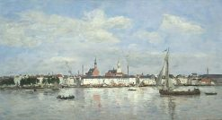 The Quay at Antwerp | Eugene Louis Boudin | Oil Painting