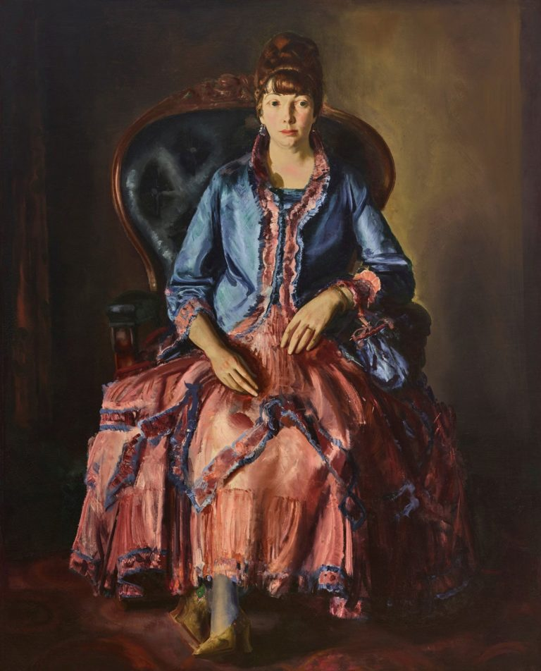 Emma in a Purple Dress | George Wesley Bellows | Oil Painting