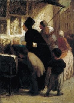 Outside the Print-Sellers Shop | HonorE Daumier | Oil Painting