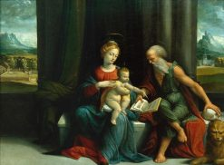 Madonna and Child with Saint Jerome | Il Garofalo | Oil Painting