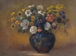 Wild Flowers in a Vase | Odilon Redon | Oil Painting