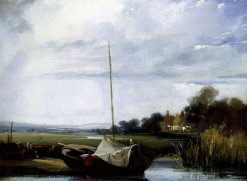 A River in Normandy | Richard Parkes Bonington | Oil Painting