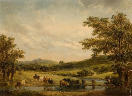 Valley at the Foot of Mount Snowden   Alfred Vickers   Oil Painting