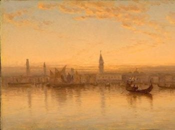 A Twilight Sketch in Venice | Sanford Robinson Gifford | Oil Painting