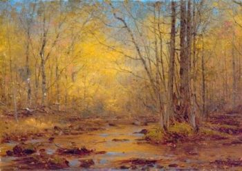 Sketch on the Outlet of Catskill Lake (Adirondacks) | Sanford Robinson Gifford | Oil Painting