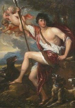 Adonis in Glory | Benjamin West | Oil Painting