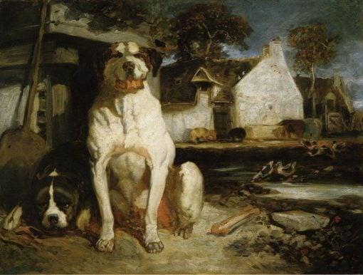 Watchdogs   Alexandre Gabriel Decamps   Oil Painting
