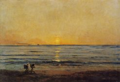 Sunset near Villerville | Charles Francois Daubigny | Oil Painting
