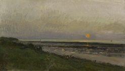 Sunset at Villerville | Charles Francois Daubigny | Oil Painting