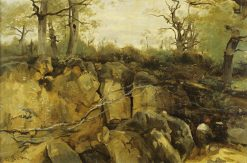 Abandoned Quarry in Fontainebleau | Jean Baptiste Camille Corot | Oil Painting