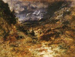 View of the Pyrenees | Narcisse Dìaz de la Peña | Oil Painting