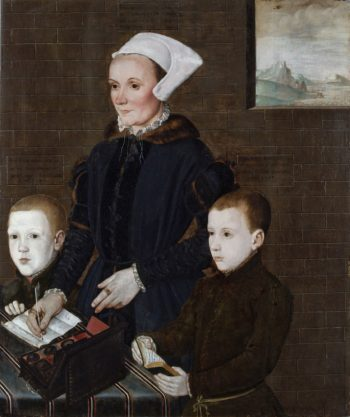 Alice Barnham and Her Sons Martin and Steven | British School th Century   Unknown | Oil Painting
