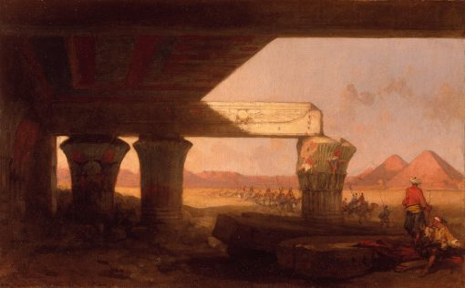 Egyptian Landscape with a Distant View of the Pyramids | David Roberts | Oil Painting