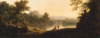A Pastoral Landscape with Shepherds and Their Flocks | George Lambert | Oil Painting
