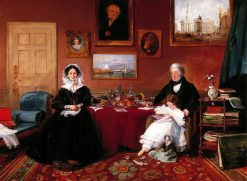 The Langford Family in their Drawing Room | James Holland | Oil Painting