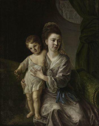 Anne Gardiner with Her Eldest Son Kirkman | Nathaniel Hone the Elder | Oil Painting