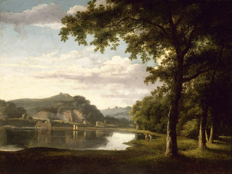 Landscape with View on the River Wye   Thomas Jones   Oil Painting