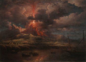 Vesuvius Erupting at Night | William Marlow | Oil Painting