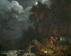 Earthstopper on the Banks of the Derwent | Joseph Wright of Derby | Oil Painting