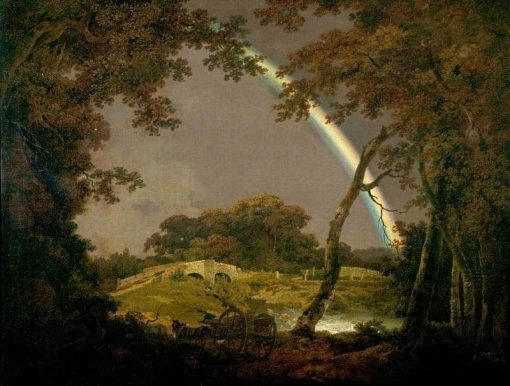 Landscape with a Rainbow | Joseph Wright of Derby | Oil Painting