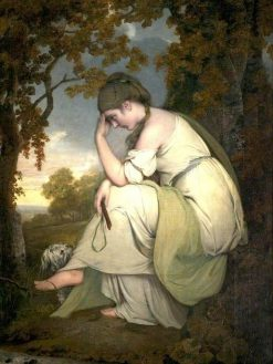Maria and Her Dog 'Silvio' | Joseph Wright of Derby | Oil Painting