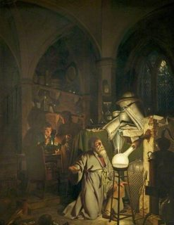 The Alchymist | Joseph Wright of Derby | Oil Painting