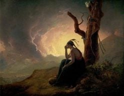 The Widow of an Indian Chief | Joseph Wright of Derby | Oil Painting
