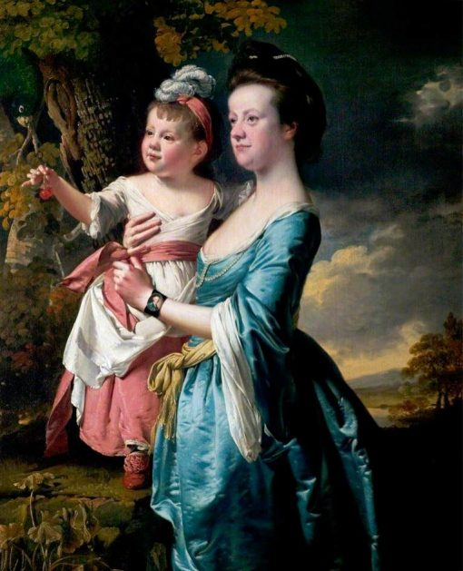 Sarah Carver and Her Daughter Sarah | Joseph Wright of Derby | Oil Painting