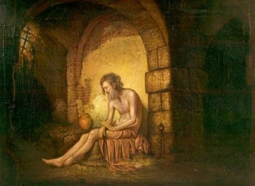 The Captive (from Laurence Sternes's 'A Sentimental Journey') | Joseph Wright of Derby | Oil Painting