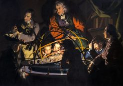 A Philosopher Giving that Lecture on the Orrery in which a Lamp is put in place of the Sun | Joseph Wright of Derby | Oil Painting