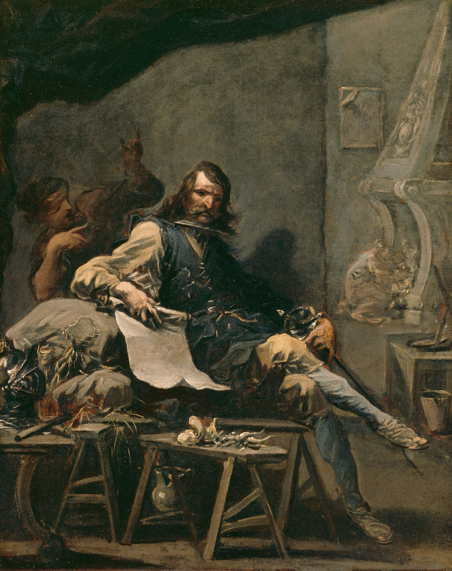 Satire On A Noble Man In Misery Painting Alessandro Magnasco Oil