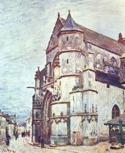 The Church at Moret after the Rain | Alfred Sisley | Oil Painting