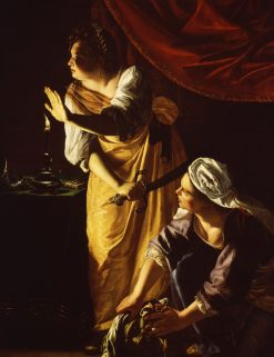 Judith and Her Maidservant with the Head of Holofernes | Artemisia Gentileschi | Oil Painting