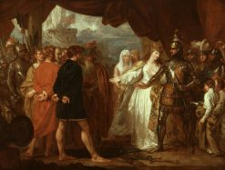 Queen Philippa Interceding for the Lives of the Burghers of Calais | Benjamin West | Oil Painting