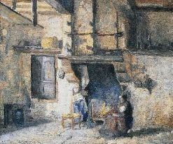 Kitchen Interior | Camille Pissarro | Oil Painting