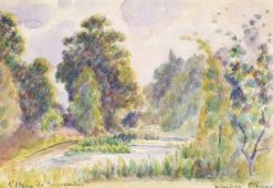 The Pond at Kew | Camille Pissarro | Oil Painting
