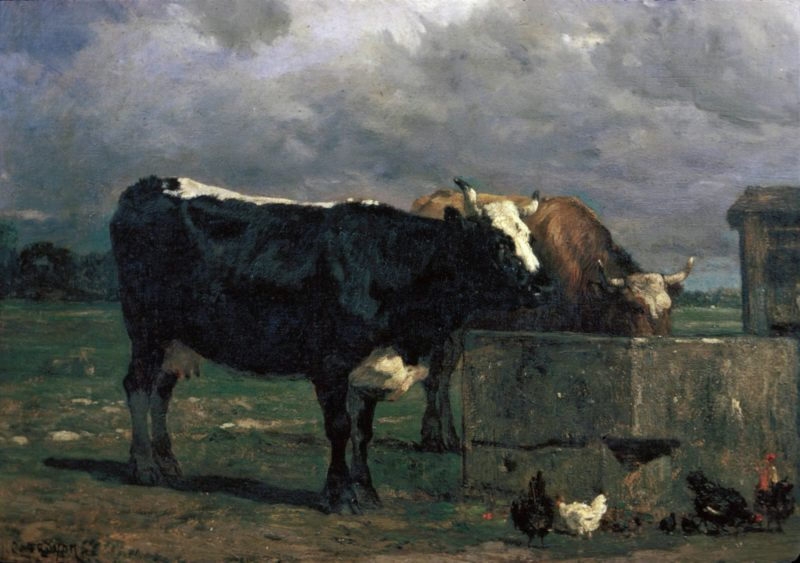 Cattle at the Trough | Constant Troyon | Oil Painting