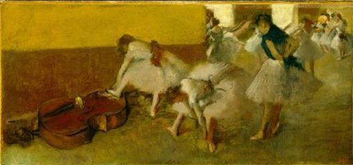 Dancers in the Green Room | Edgar Degas | Oil Painting