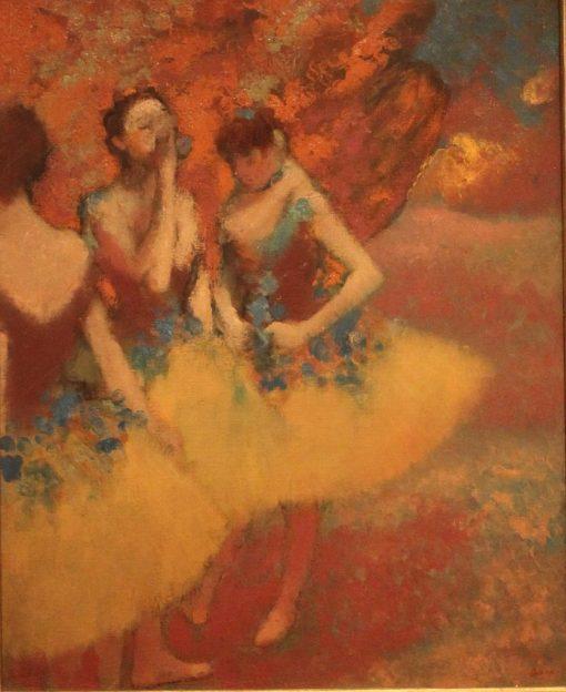 Three Dancers in Yellow Skirts | Edgar Degas | Oil Painting
