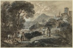 A Landscape with Horses