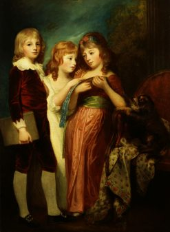 Winchcombe Henry Eyre-Hartley and his sisters Charlotte and Mary | George Romney | Oil Painting