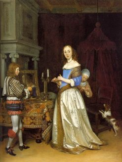 Lady at her Toilette | Gerard ter Borch | Oil Painting