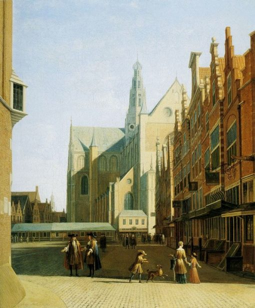 View of the Grote Kerk in Haarlem | Gerrit Adriaensz.Berckheyde | Oil Painting