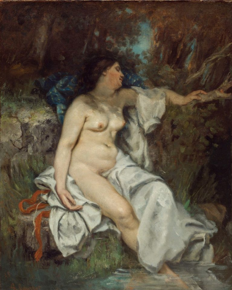 Bather Sleeping by a Brook | Gustave Courbet | Oil Painting