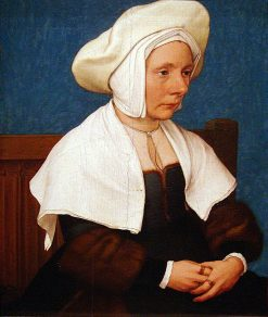 Portrait of a Woman in a White Coif | Hans Holbein the Younger | Oil Painting
