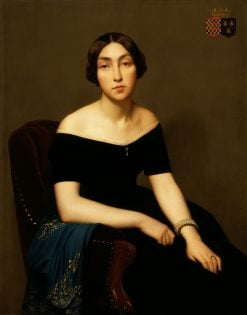 Madame Louis Antoine de Cambourge | Hippolyte Jean Flandrin | Oil Painting