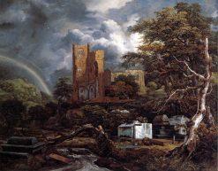The Jewish Cemetery at Ouderkerk | Jacob van Ruisdael | Oil Painting