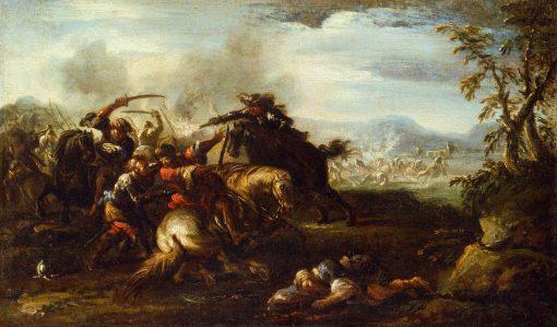 A Battle Scene | Jacques Courtois | Oil Painting