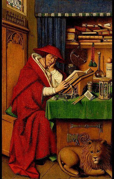 Saint Jerome in His Study | Jan van Eyck | Oil Painting